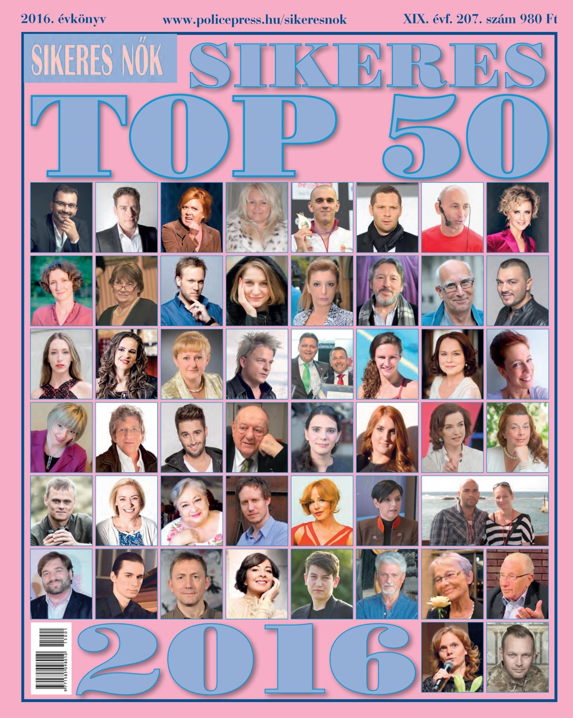Sikeres Nők  TOP 50 (2016)